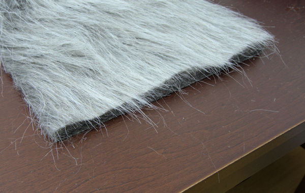 What incorrectly cut faux fur looks like.