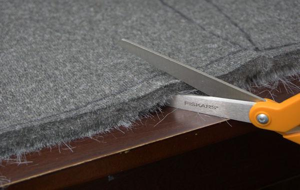 Wrong way of cutting faux fur.