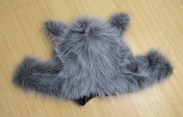 Hidden seam on faux fur costume.