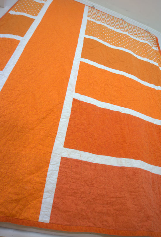 Orange striped gradient