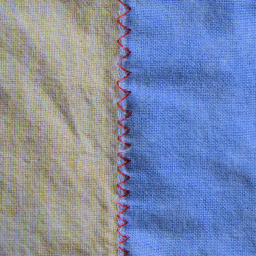 Zigzag stitch applique