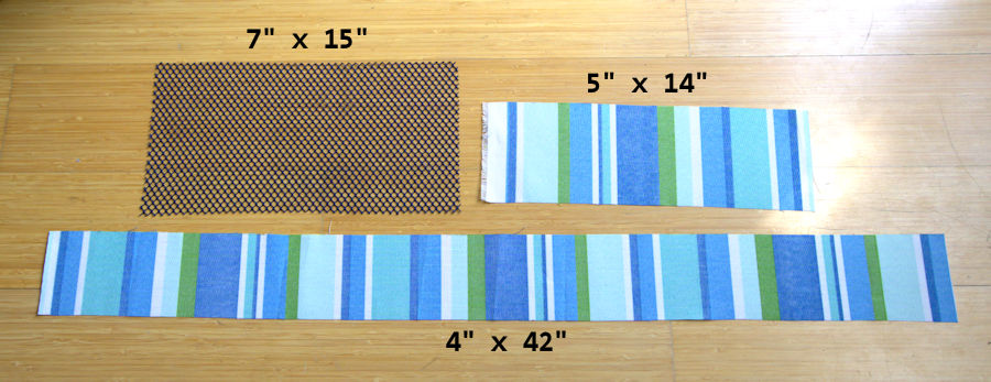 Visual measurements of the cut fabric