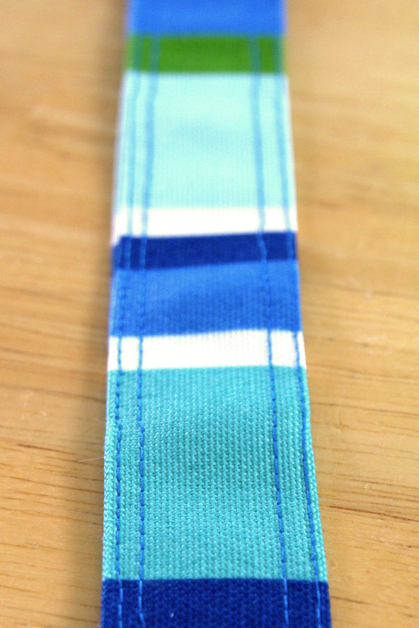 Decorative double stitching on the strap