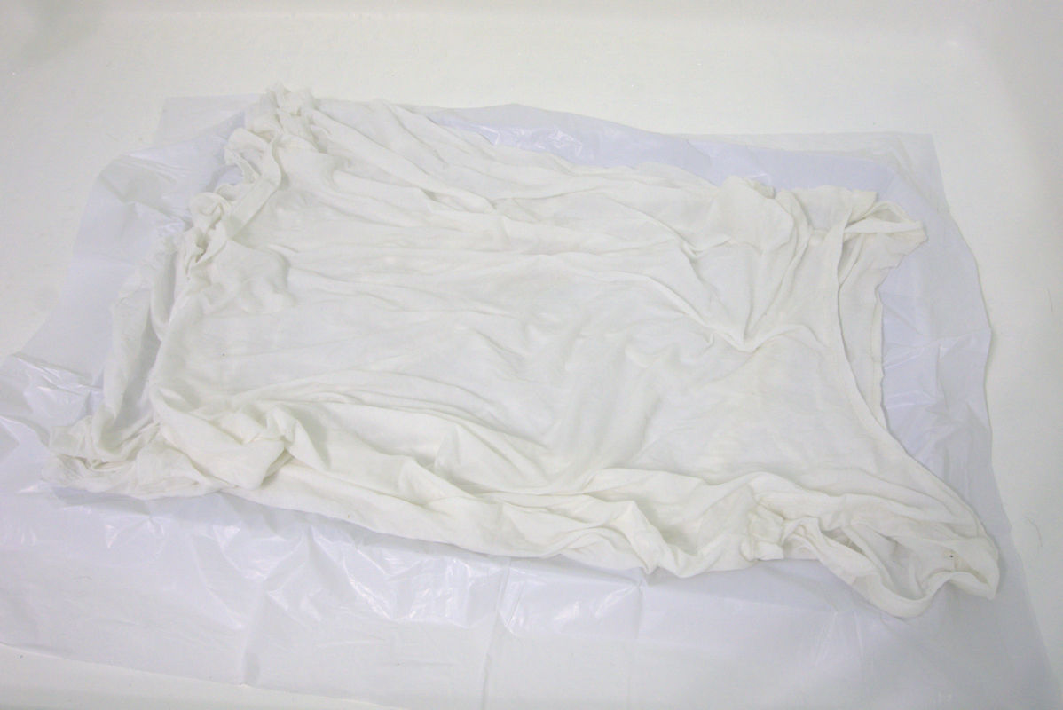 White fabric laid out lightly crumpled