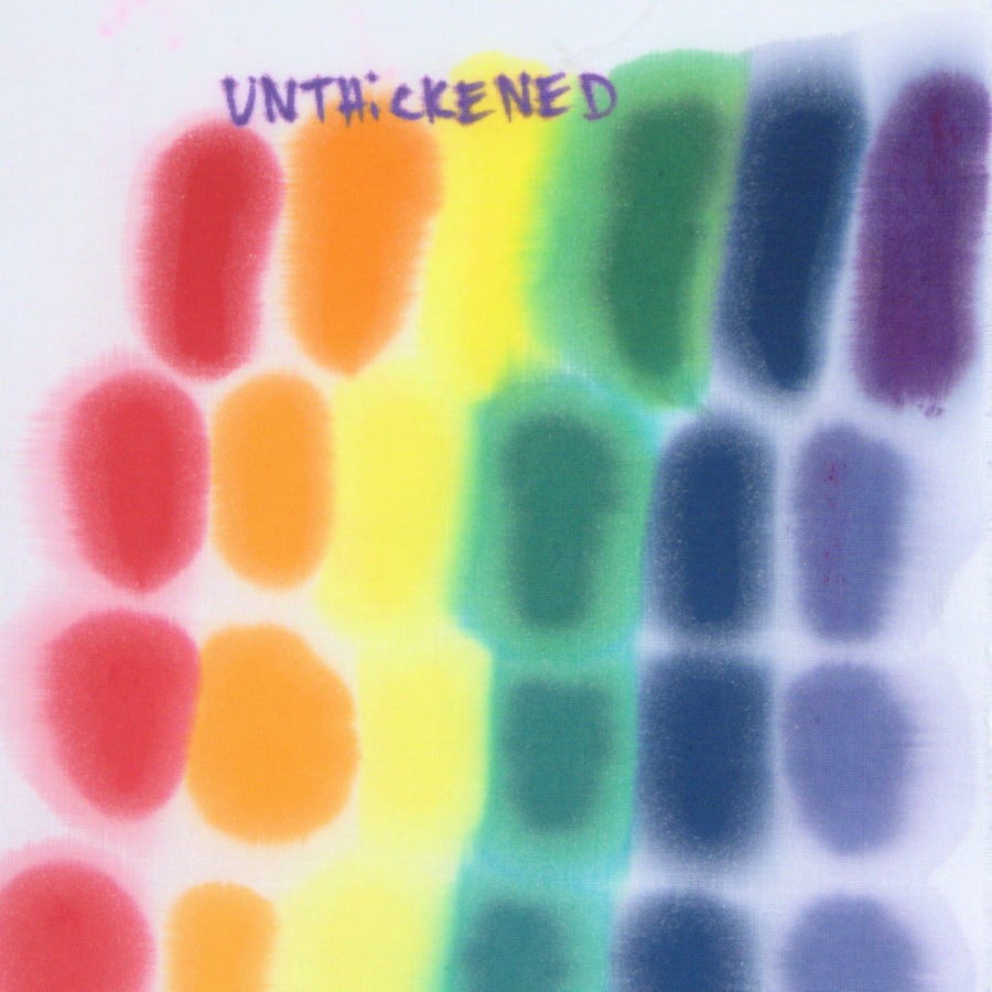 Spread pattern of unthickened dye on untreated fabric