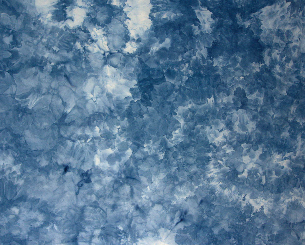 Blue ice dyed fabric