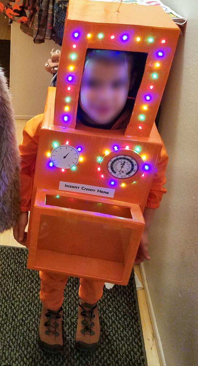 Orange light up robot costume