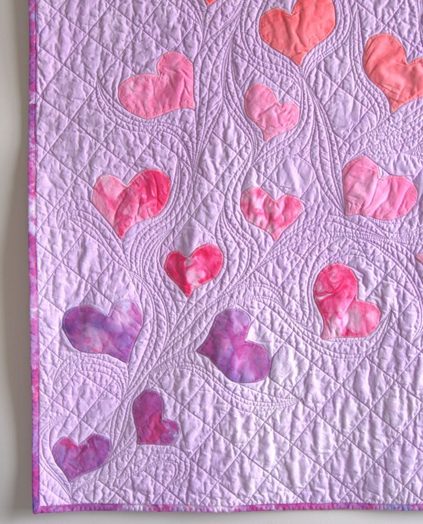 Corner of heart applique quilt