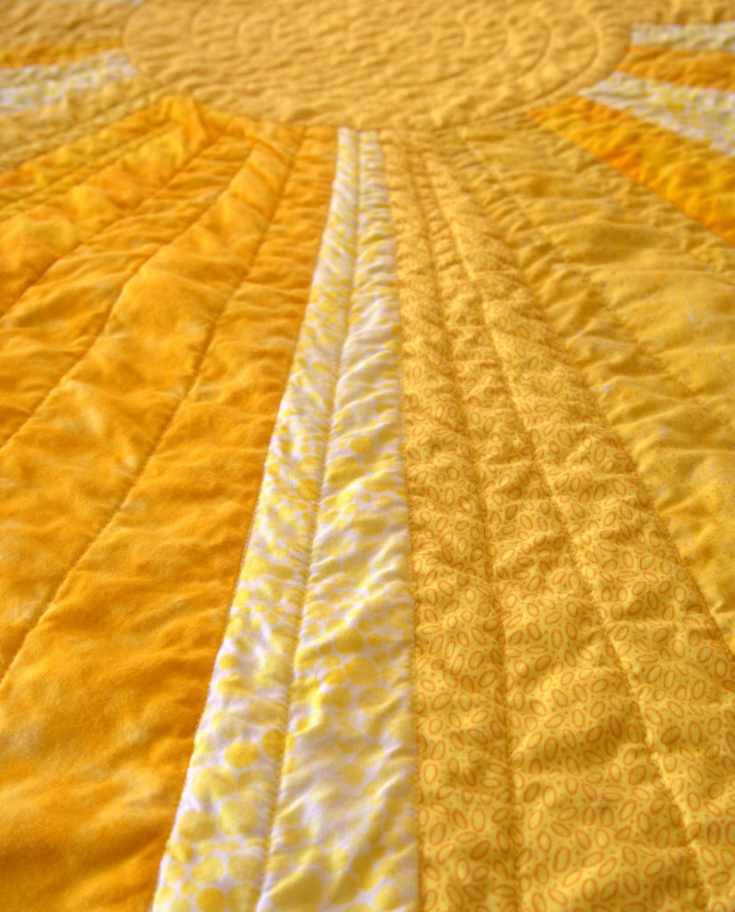Sunshine quilt closeup