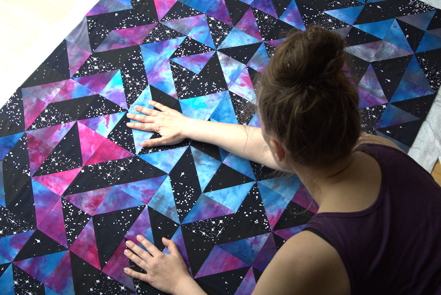 Smoothing out galaxy quilt top