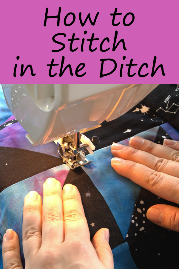 How to Stitch in the Ditch