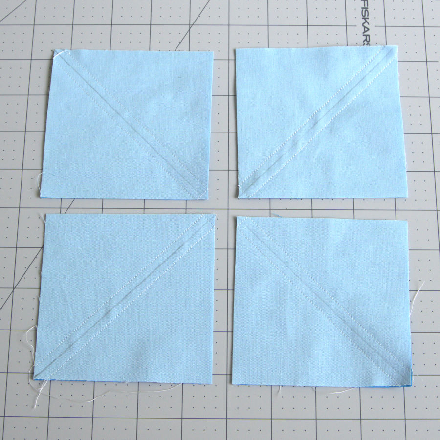 Cut into 4 equal squares