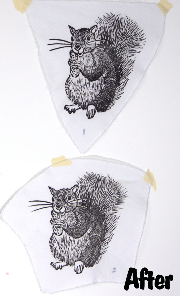 Heat set speedball fabric ink after