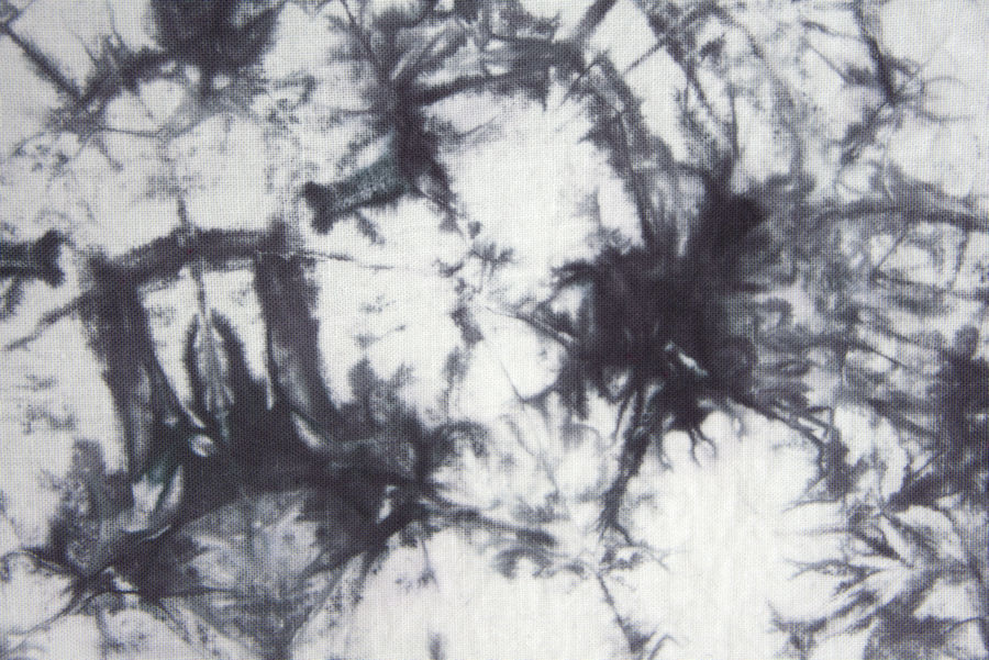 Black and white crumpled tie dye detail photo