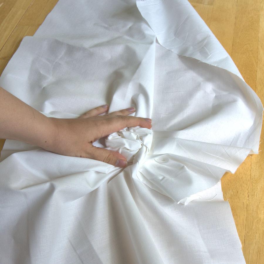 Crumpling fabric