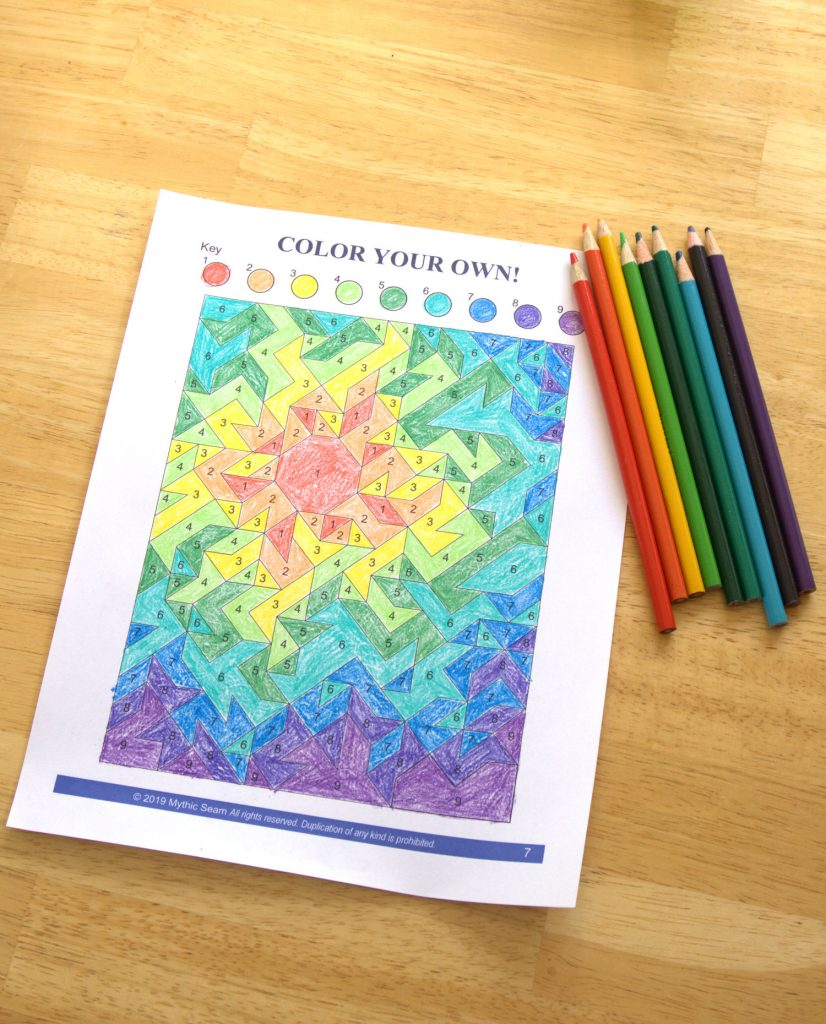 Quilt planning coloring sheet