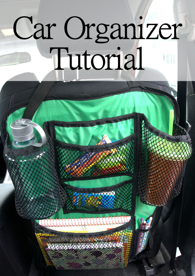 Car seat organizer DIY tutorial