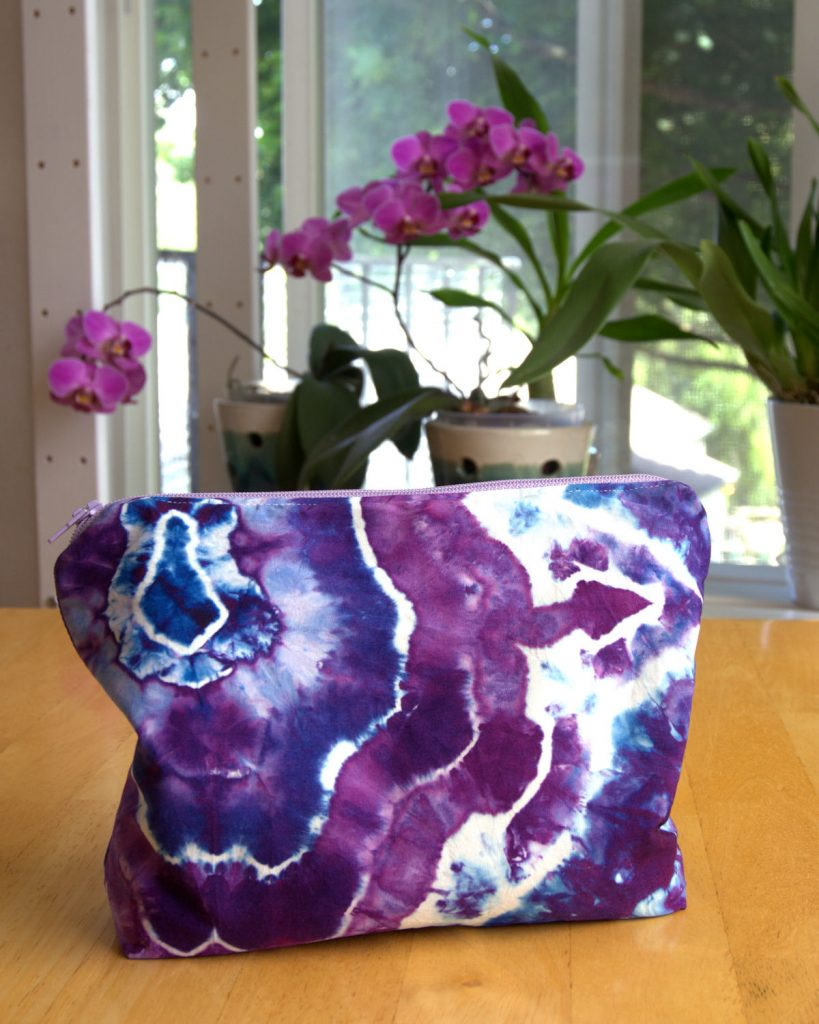 Purple geode cosmetic bag