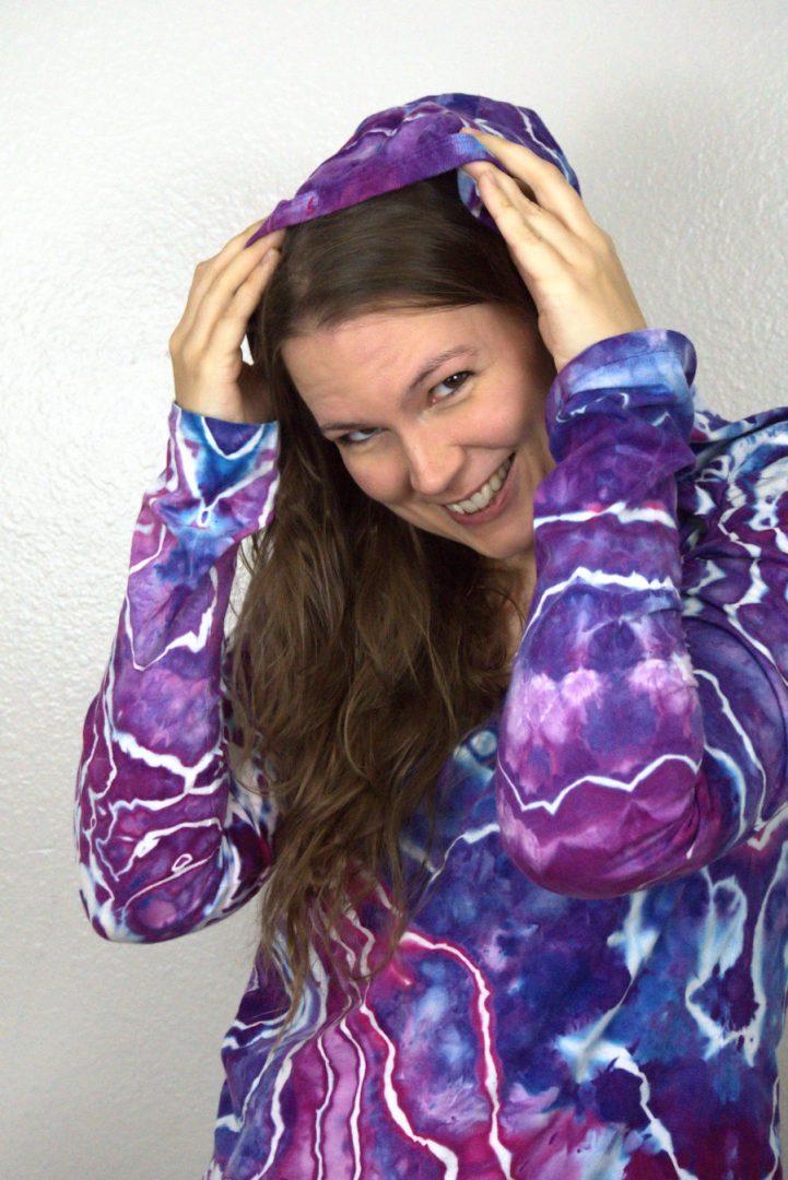 geode dyed hoodie