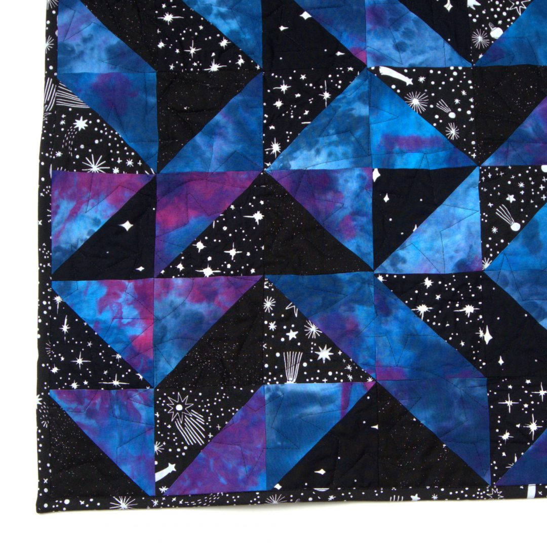 Glorious Galaxy Quilt corner
