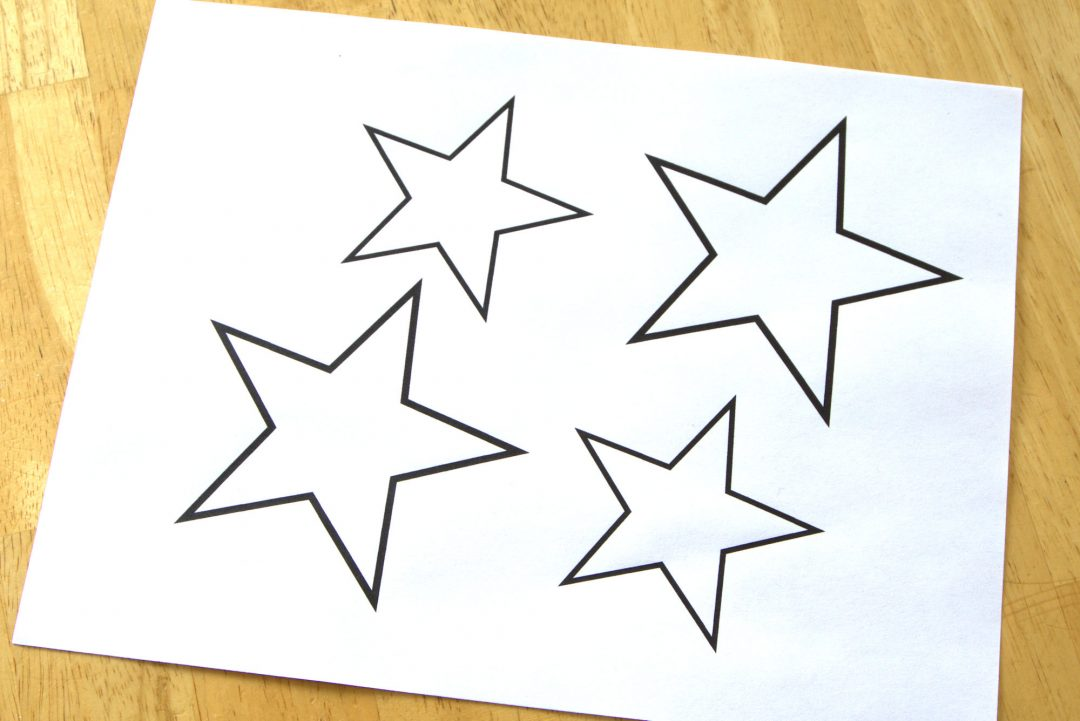 Star template on paper