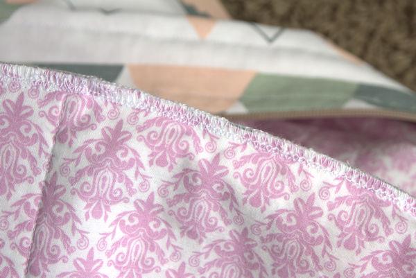 Inside bag seam