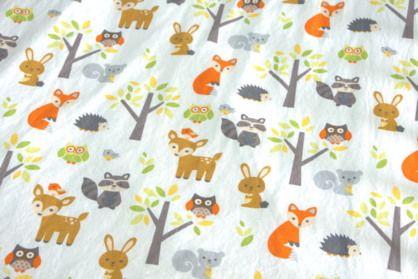 Animal nursery crib sheet fabric