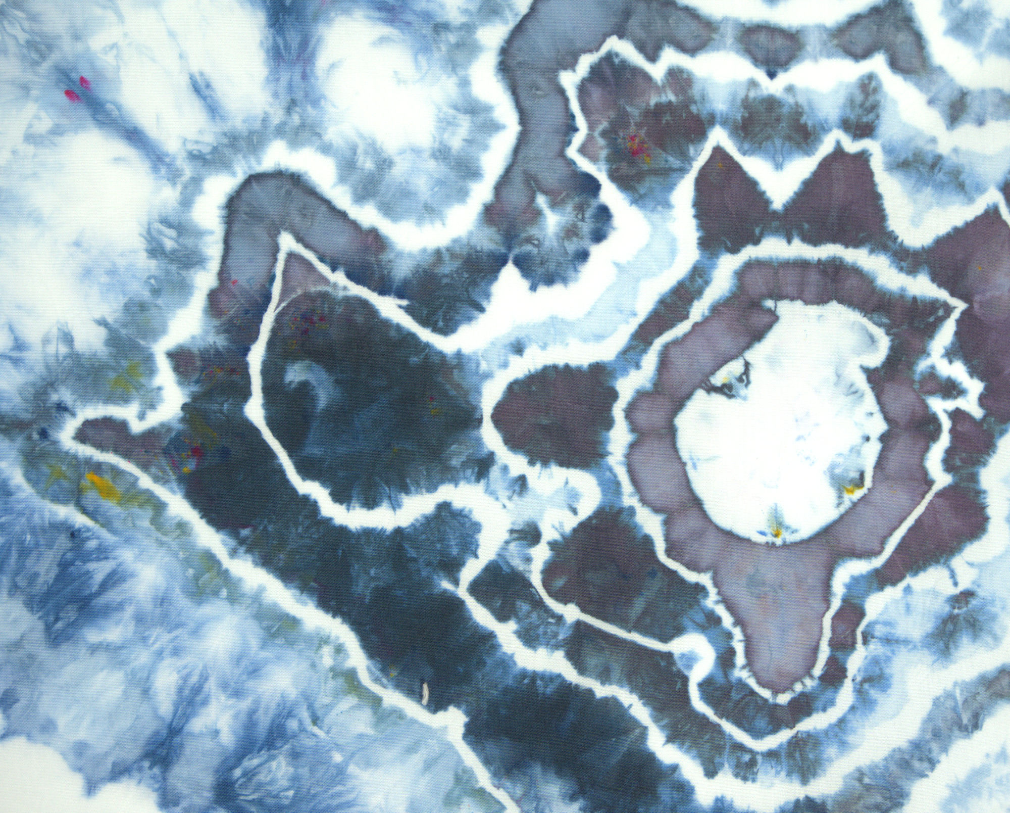 Blue and gray geode detail