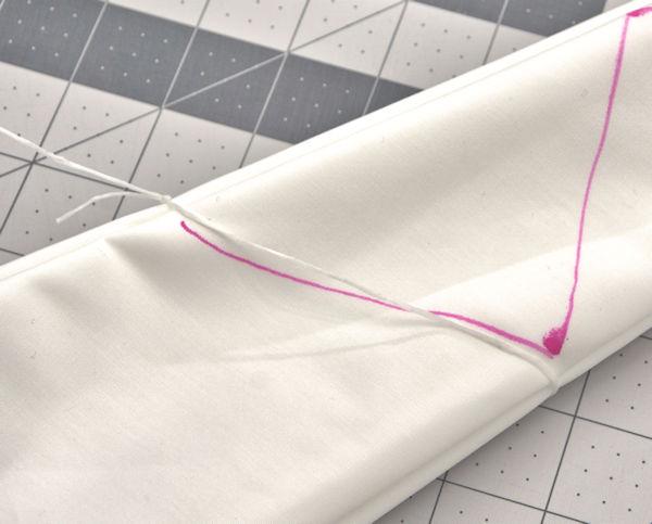 Slip knot around fabric