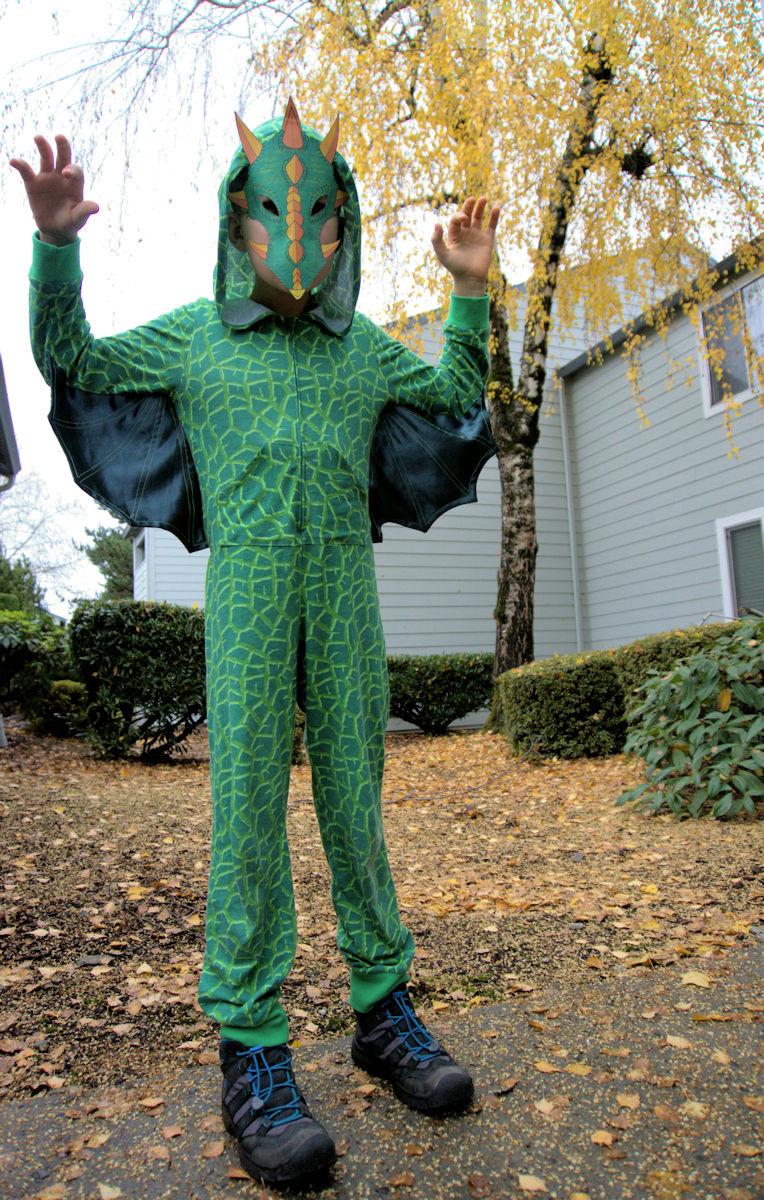 Kid's dragon pajamas with wings