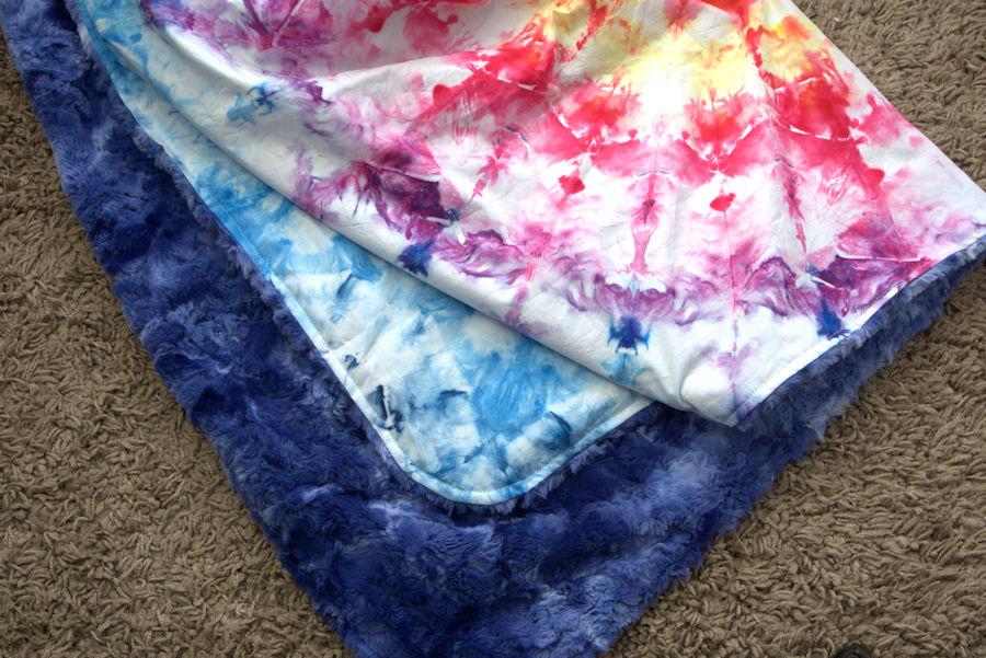 Mandala minky baby blanket
