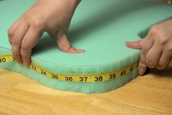 Measuring foam cushion