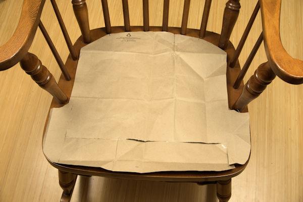 Chair cushion paper template