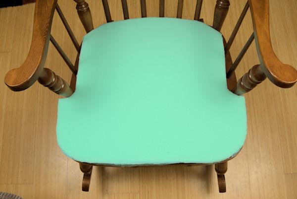Foam rocking chair cushion
