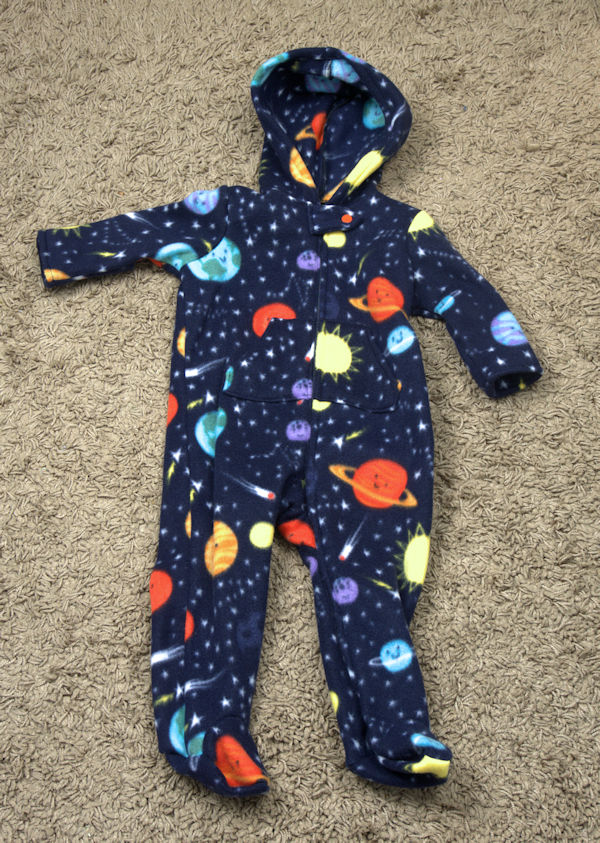 Space baby jumpsuit