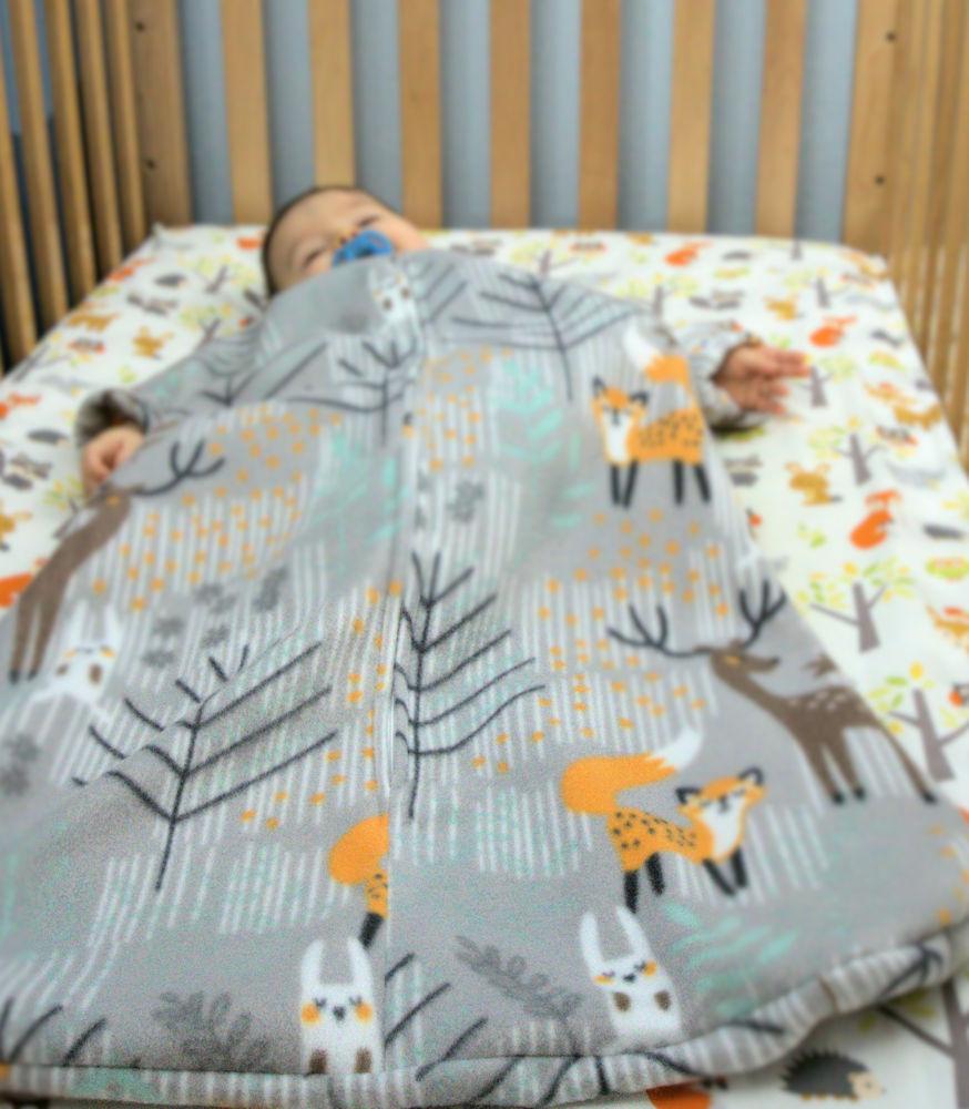 Baby sleeping in sleep sack