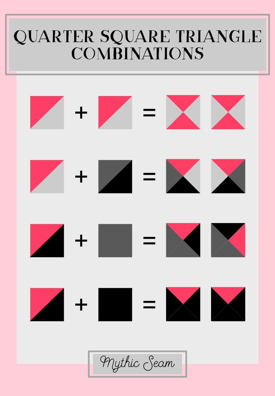Quarter square triangle graphic chart