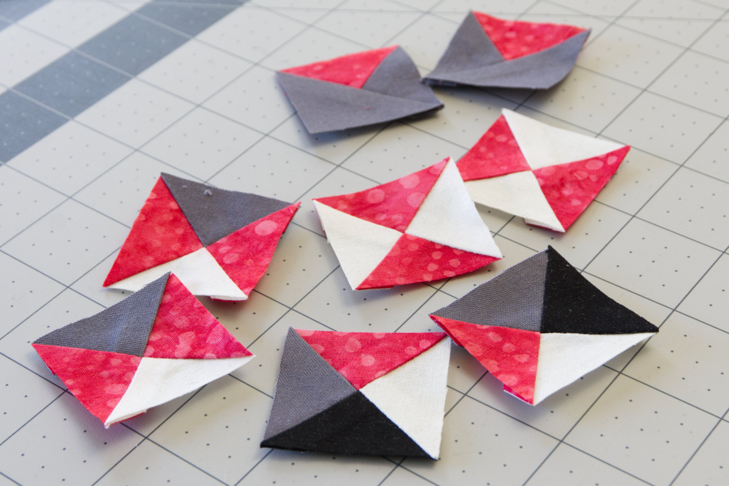 A variety of quarter square triangles