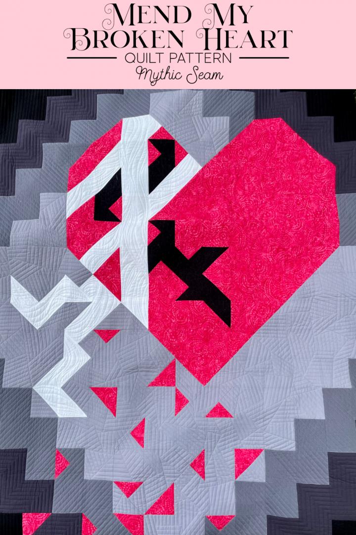 Pink broken heart bandaged