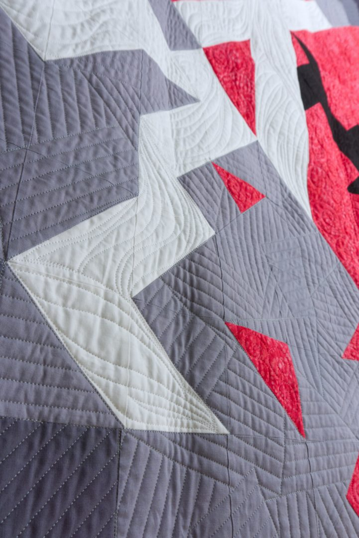 Quilting texture close up