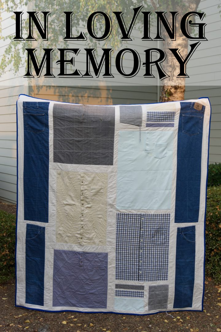 Memory quilt clothing