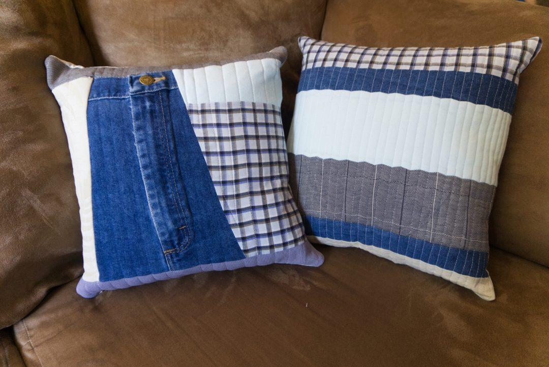 Memory quilt pillows
